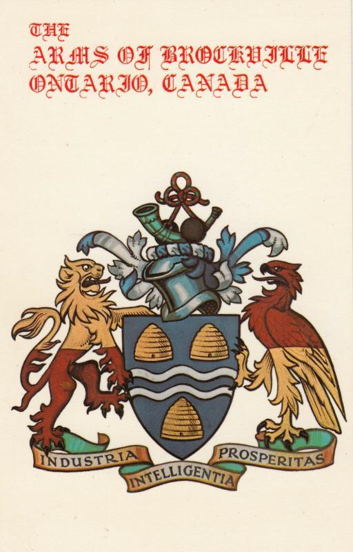 BROCKVILLE , Ontario , Canada , 50-60s; Coat of Arms