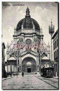 Old Postcard Brussels Eglise Ste Marie