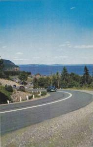 Road scene in New Brunswick's Fundy National Park, New Brunswick, Canada, 40-60s