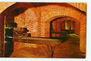Vintage Post Card Casemate William Johnson Room Castle Fort niag New York # 2169