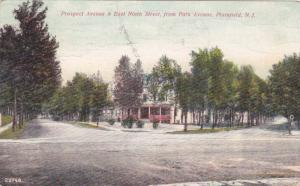 Scene showing Prospect Avenue & East Ninth Street, from Park Avenue, Plainfie...