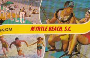 South Carolina Greetings Hello From Myrtle Beach 1972