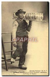 Old Postcard Pottery Ceramic Big house HR Manufacturing of Breton faience in ...