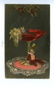 137863 KITSCH Drunk ANGEL in Glass FAIRY vintage RUSSIAN PC