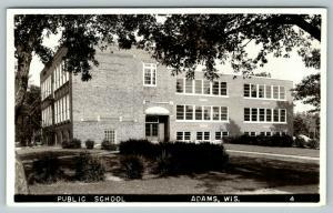 Adams Wisconsin~Public School~1950s Real Photo Postcard~RPPC