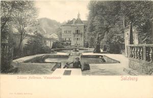 Vintage Postcard Salzburg Schloss Hellbrunn Wasserkunste Austria