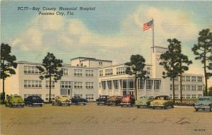 Vintage Linen Postcard; Bay County Memorial Hospital, Panama City FL Posted