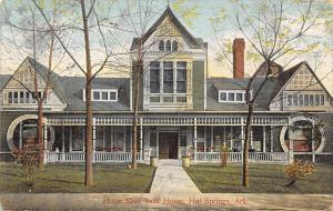 Hot Springs Arkansas~Horse Shoe Bath House~Ed S Weaver Manager~1909 Postcard