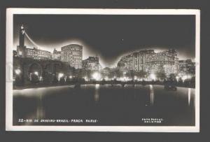 090340 BRAZIL  Rio de Janeiro Praca Paris NIGHT Vintage PC