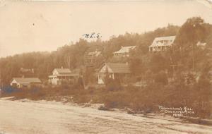 Onekama Michigan~Houses on Professor's Hill~Beach along Lake Michigan~1914 RPPC