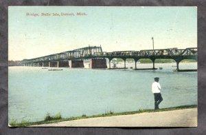 dc1826 - DETROIT Mich 1908 Belle Isle Bridge Postcard