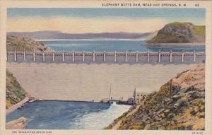 Elephant Butte Dam Near Hot Springs New Mexico