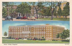 South Dakota Sioux Falls McKennan Hospital and Sioux Valley Hospital Curteich