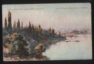 102385 GREECE Ville Royale Mon-repos Corfou Vintage colorful