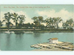 Divided-back RIVER SCENE Sioux City Iowa IA AE6739