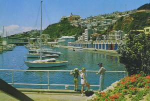 Boat Harbour Wellington New Zealand NZ Children Unused Postcard D28