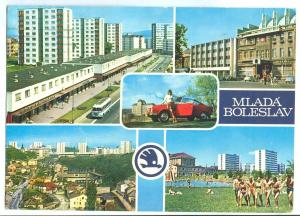Czech Republic, MLADA BOLESLAV, 1977 used Postcard