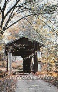 Covered Bridge Vintage Postcard Historic Covered Bridge Quaker City, OH, USA ...