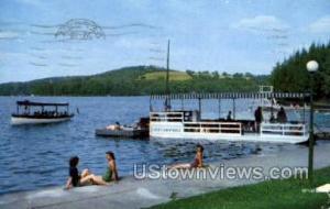 Waterfront at Scott's Casino Oquaga Lake NY 1954