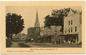 Pittsfield NH Main Street View Looking West Postcard
