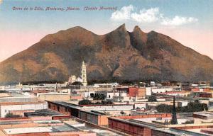 Mexico Old Vintage Antique Post Card Cerro de la Silla Monterrey Unused