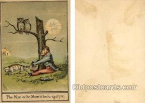 The Man in the Moon is looking at you - Approx Size Inches = 3.25 x 4.75 Trad...