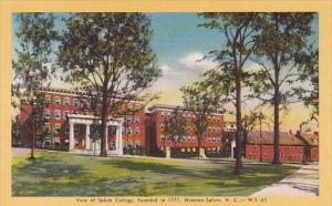 View Of Salem College Founded In 1771 Winston Salem North Carolina