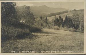 Wilmington Vermont VT ~ Mt. Haystack Mountain Rural Scene ~  Antique Postcard