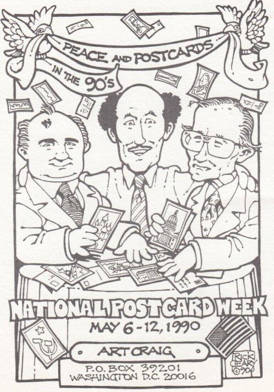 National Postcard Week , 1990 Peace & Postcards , Rick Geary