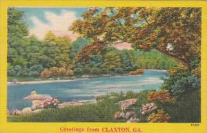 Georgia Greetings From Claxton 1952