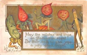 Halloween Post Card Old Vintage Antique 1913