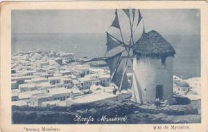 Greece Windmill Vue de Myconos