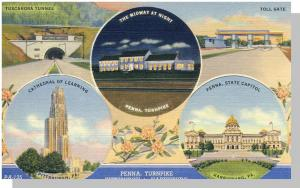 Pittsburgh/Harrisburg, Pennsyvania/PA Postcard,Penn Turnpike