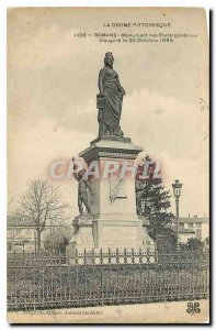 Old Postcard The picturesque Drome Romans monument of general states inaugura...