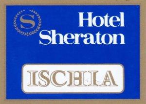 Italy Ischia Sheraton Hotel Vintage Luggage Label sk2295