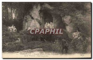 Postcard Old Versailles Fountains of Apollo Cave