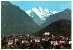 Interlaken Jungfrau Mountain & Ville Vue Carte Postale