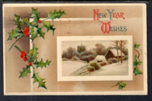 New Year Holly Scene