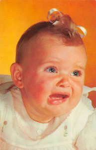 Rehoboth Beach Delaware Greetings Baby Portrait Crying Postcard AA39897