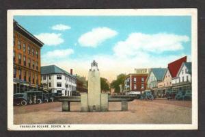 NH View Franklin Square DOVER NEW HAMPSHIRE Postcard