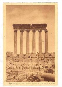 BAALBEK (Syrie), now Lebanon, 1910-30s ; Les 6 dernieres colonnes des 54 du T...