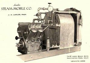 Vintage RPPC Lawyer Steam-Mobile Co., Huntington Park, Calif. Postcard P132