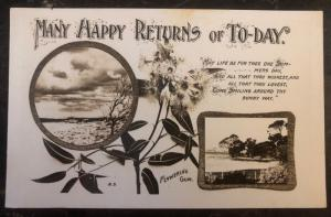 Mint Australia Picture Postcard PPC Many Happy Returns Of Today