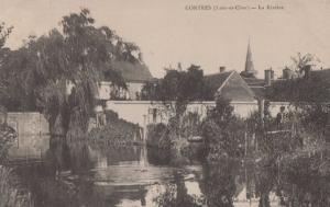 Contres La Riviere Antique French Postcard
