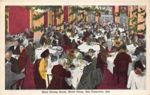 San Francisco California~Hotel Plaza-People Eating in Main Dining Room~1920s Pc