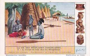 Liebig Vintage Tarde Card S1304 Life Among The Congolese People 1934 No 1 Le ...