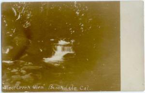 RPPC Silver Creek Glen, Brookdale California CA, Sailboat Real Photo 1905-1908