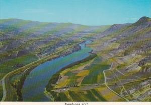 Canada British Columbia Kamloops Aerial View Showing Thompson River