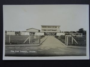 Northamptonshire ROADE The New School - Old RP Postcard by Landscape View