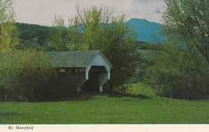 Mt Mansfield from Covered Bridge - Cambridge VT, Vermont